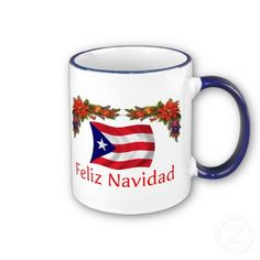 Shop Puerto Rico Christmas Mug created by worldshop. Christmas Mugs, Merry Christmas, Christmas In Puerto Rico, Christmas Time Is Here, Happy Hanukkah, Puerto Ricans, Sugar And Spice, Beautiful Islands, Favorite Color
