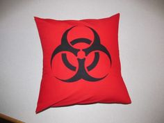 Biohazard Throw Pillow Cover | zippityduda - Housewares on ArtFire
