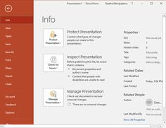 #Encrypt_with_Password_Option in #PowerPoint_2016 for Windows