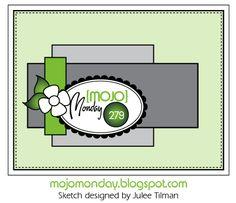 Mojo Monday #279 Card Sketch  Sketch designed by Julee Tilman  #mojomonday #vervestamps #cardsketches