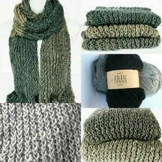 Recycled Aran wool extra long scarf. Recycled wool is made by cutting or tearing apart existing wool fabric, mixing with other wearable materials before re-spinning the resulting fibres https://www.etsy.com/uk/shop/Lelsloom