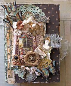 Secret Garden Altered Book Box- Top View **Berry71Bleu** **SCRAPS OF DARKNESS** - Scrapbook.com--  SHE DID A SUPER JOB I LOVE IT!