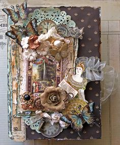 Secret Garden Altered Book Box- Top View **Berry71Bleu** **SCRAPS OF DARKNESS** - Scrapbook.com
