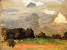 oil paintings of sky | painting painting name landscape with grey sky date unknown painting ...