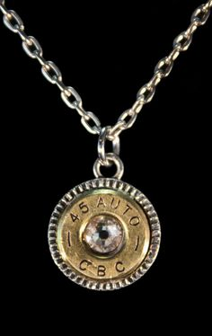 Bullet End Necklace Bullet Necklace, Washer Necklace, Shotgun Shell Jewelry, Bullet Crafts, Handcrafted Jewelry, Unique Jewelry, Pocket Watch, Shells, Handmade Gifts
