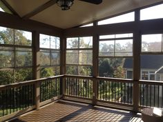 Charlotte elevated porch with Eze-Breeze windows