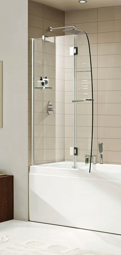 Paragon Bath AURORA-E Frameless Shower Door in Chrome, Size: 48 in. W x 58 in. H (Premium Clear Glass)