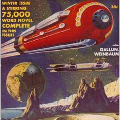Oil painting by Frank R. Paul for the winter 1941 issue of Science Fiction Quarterly Rocket Ships, Electric Sheep, Sci Fi Comics, Leagues Under The Sea, Days Of Future Past, Classic Sci Fi, Isaac Asimov, Weird Science, Futurama