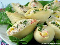 Muszle makaronowe nadziewane tuńczykiem • Domowe Potrawy