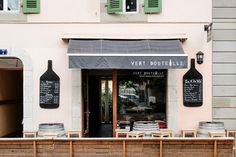 Do you fancy a seat on the sunny terrace in the quiet street or sharing a laugh with the happy owners at the counter inside? Wine Bars, Geneva, Switzerland, Terrace, Counter, Fancy, Street, Bottle, Wine