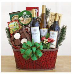Wine Country Bounty Christmas Gift Basket