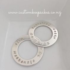 Just about to darken the letters and put thesterling silver circle of life loops on a sterling silver oval belcher chain.  Beautiful unisex gift.  Shop at http://ift.tt/1Khhi4U or click on the link in my bio  #customkeepsakesnz #circleoflife #sterlingsilver #loveloops #pendants #madeinnz #nzhandmade #nnzmo #networknz #thehivenz #love #family #whanau