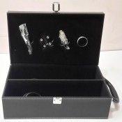 Zain Leather Box - Black