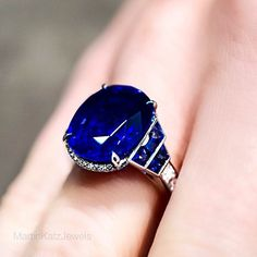 Blue Sapphire Ring (over 11cts). #MartinKatzJewels