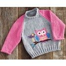 Mary Maxim - Owl Pullover Sizes - Children's Sweaters - Sweaters - Knit & Crochet The perfect pullover for your little owl lover. Kids Knitting Patterns, Baby Cardigan Knitting Pattern, Knitting For Kids, Baby Patterns, Girls Sweaters, Baby Sweaters, Pull Bebe, Owl Sweater, Pulls