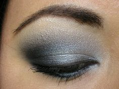 For a night out where drama and sophistication are the watchword, a smoky eye look could be just the thing. It doesn't take a makeup artist to do this, either; here's how to create smoky eyes with the makeup most people have at home. Step Choose the. Silver Eye Makeup, Makeup For Green Eyes, Smokey Eye Makeup, Love Makeup, Beauty Makeup, Makeup Looks, Makeup Eyeshadow, Eyeshadow Ideas, Fun Makeup