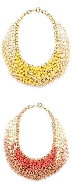 Ombre Bib Necklaces! | Bauble Bar