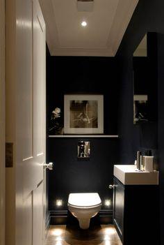 ↗️ 96 Amazing Bathroom Lighting Design Ideas to Inspire Your Bathroom Design. - ↗️ 96 Amazing Bathroom Lighting Design Ideas to Inspire Your Bathroom Design 6755 - Small Downstairs Toilet, Small Toilet Room, Downstairs Cloakroom, Bathroom Lighting Design, Bathroom Design Small, Bathroom Interior Design, Powder Room Decor, Powder Room Design, Beautiful Bathrooms