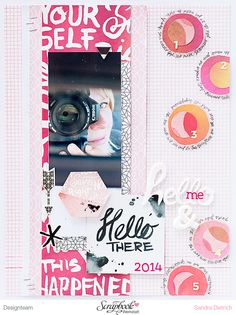 #highline I #Scrapbooking Layout mit Basic Grey I Hello me, hello there 2014 | DT SBW | Sandra Dietrich - mojosanti