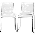 Lino Transparent Clear Acrylic Dining Chairs (Set of 2) for $200 at Overstock.com if you want the look of a Ghost chair for a fraction of the cost! Love, love, love