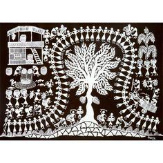The Typical Warli Human Chain