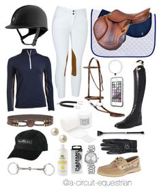 """navy schooling"" by a-circuit-equestrian on Polyvore featuring LifeProof, Parlanti, Carolee, Nine West, Sperry and Hermès"