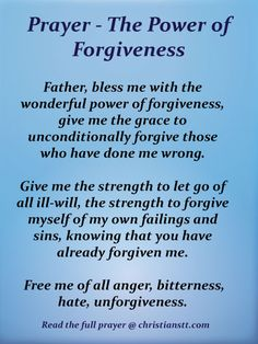 Discover and share Forgiveness Christian Quotes. Explore our collection of motivational and famous quotes by authors you know and love. Forgiveness Scriptures, Prayer For Forgiveness, The Power Of Forgiveness, Prayer Scriptures, Bible Prayers, Faith Prayer, Catholic Prayers, God Prayer, Prayer Quotes