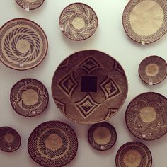 Binga Baskets / Various sizes and patterns reflecting the weaver's creativity / Woven Art
