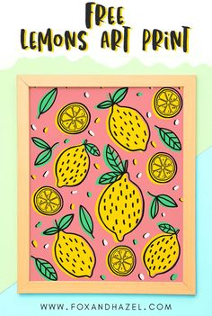 Zest up your gallery wall for summer with this Free Lemon Art Printable! Freshly squeezed & packing a bold punch of color, this free art print is a great way to add a fresh twist to your walls! #foxandhazel #lemons #lemonart #lemonartprint #lemonillustration #freeartprint #freeartprintable #freeart #freeprintable #illustration Templates Printable Free, Printable Wall Art, Free Downloads, Free Printables, Free Art Prints, Wall Art Prints, Lemon Art, Bible Verse Art, Small Art
