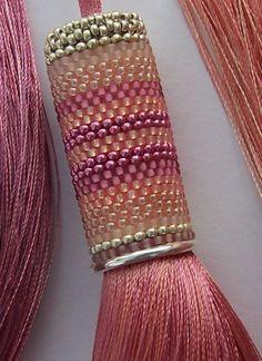 Pretty in Pink  Pale Coral/  Dusky Pink Tassel by ArtofBeadUK, $59.00