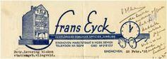 briefhoofd van juwelier Frans Eijck.