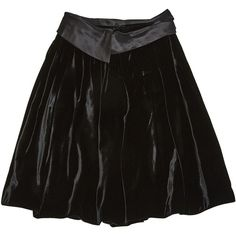 Pre-owned John Galliano Mid-Length Skirt ($264) ❤ liked on Polyvore featuring skirts, black, women clothing skirts, velvet high waisted skirt, high waisted knee length skirt, velvet skirt, high waisted short skirts and knee length pleated skirt