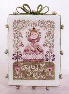 french cross stitch pattern : jardin de roses rose garden tralala corinne rigaudeau mothers day counted cross stitch diy. $18.00, via Etsy.