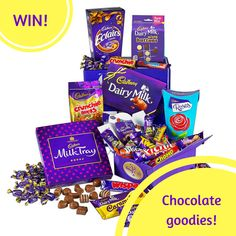 Win chocolate in this competition to win a huge chocolate hamper from Cadbury chocolate. Enter now at Slummy Single Mummy for your chance to win chocolate!