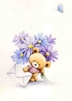 54 Ideas baby pictures cute teddy bears for 2019 Teddy Bear Images, Teddy Bear Pictures, Tatty Teddy, Cute Animal Drawings, Cute Drawings, Cute Images, Cute Pictures, Baby Pictures, Birthday Wishes Flowers
