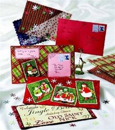 DIY Fabric Christmas Postcards