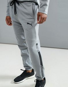 Puma Running Future Tech Fleece Joggers In Gray 59247803 Track Pants Mens, Mens Jogger Pants, Track Suit Men, Fleece Joggers, Sport Pants, Puma Running, Mens Polo T Shirts, Joggers Outfit, Look Man