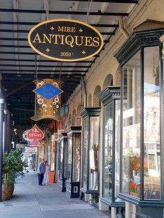 Get out your walking shoes -- you'll need 'em for a walk along Magazine Street. Stretching 6 miles long, the thoroughfare is home to dozens of quaint antique shops, like Mire Antiques (pictured), as well as clothing boutiques, restaurants and bars. New Orleans Homes, New Orleans Louisiana, Louisiana Swamp, Best Places To Travel, Places To See, Magazine Street New Orleans, Antique Shops, Antique Dealers, New Orleans Travel