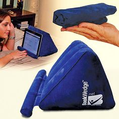 BookWedge Inflatable Wedge Tablet Holder