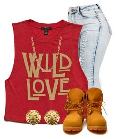 """""""Finally Back"""" by mindless-sweetheart ❤ liked on Polyvore featuring Forever 21, Timberland, ASOS and Chanel"""