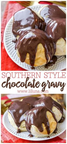 Sweet and smooth southern style chocolate gravy can be poured over warm biscuits for a tasty breakfast treat, or on anything else your heart desires! Chocolate Gravy Recipe, Chocolate Recipes, Dessert Chocolate, Cooking Chocolate, Chocolate Chocolate, Chocolate Pudding, Chocolate Truffles, Delicious Chocolate, What's For Breakfast
