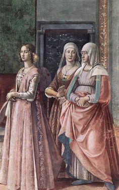 "francesca-vespucci: "" Birth of St John the Baptist (detail) Fresco Cappella Tornabuoni, Santa Maria Novella, Florence 1486-90 """