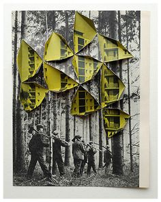 abigail reynolds: woodsmen, 2008. This photograph represents the impact of deforestation happening over time, as development for the human environment.