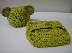 Newborn Baby Beanie and Diaper Cover Set--Hand Crochet--Photo Prop #Handmade