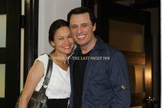 """Studios GLIX - Joe Penny et Eunice Olsen. Photo extraite de """" THE LAST NIGHT INN """" film dont la sortie est prévue pour février 2015"""
