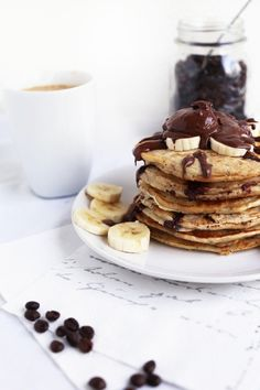 vegan chocolate chip pancakes- decadent and delicious but also completely dairy free which isn't easy to do!