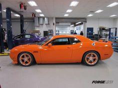 orange supercharged Signature Series Dodge Challenger