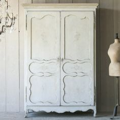 Eloquence One of a Kind Antique Armoire Floral Patina.  #laylagrayce #eloquence