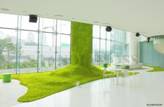 Green Architecture, Architecture Design, Green Zone, Moss Wall, Star Decorations, Plant Wall, Stage Design, Commercial Design, Black House