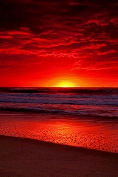 Imagem de sunset and beach